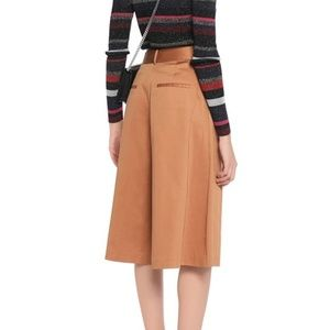 ALICE + OLIVIA Pleated Culotte Pants Camel 2/4